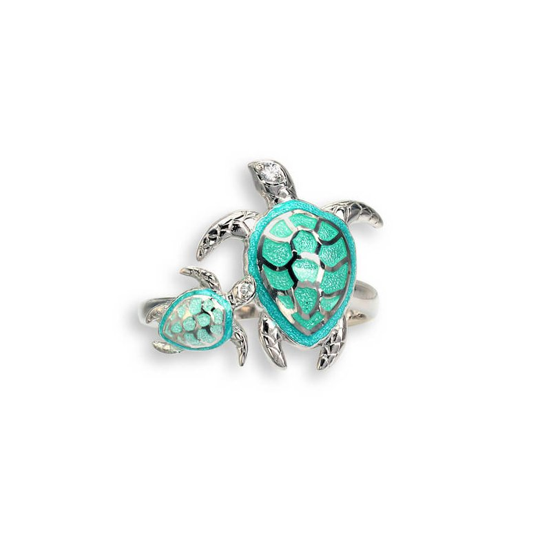 Nicole Barr Designs IN-STORE Collection S/S Mother/Baby Sea Turtle Ring