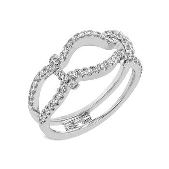 White Gold Diamond Insert Ring