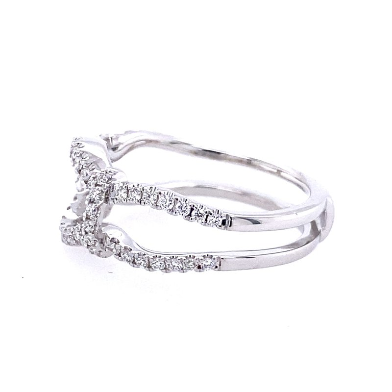 Simon G IN-STORE COLLECTION White Gold Diamond Insert Ring