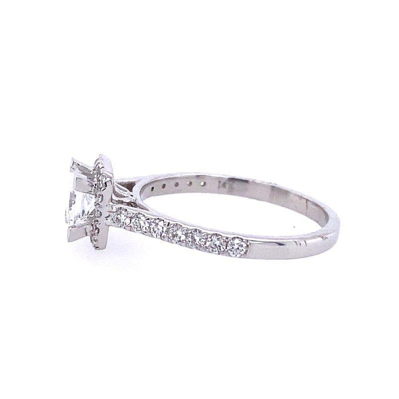 B&C Creations Princess Halo Engagement Ring