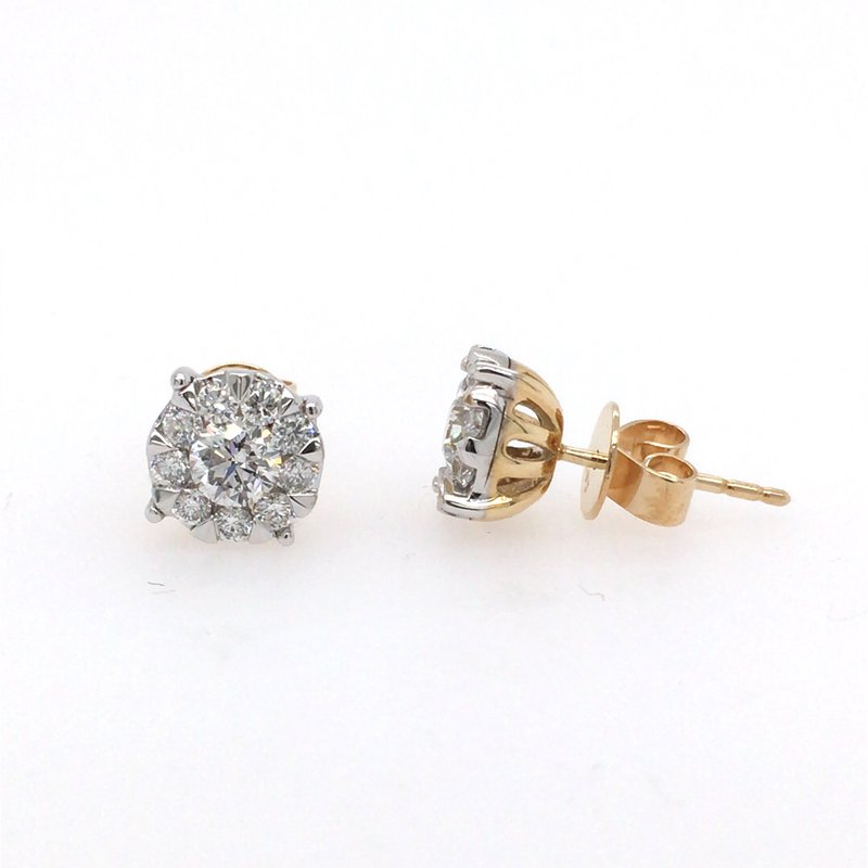 B&C Collections Diamond Cluster Studs