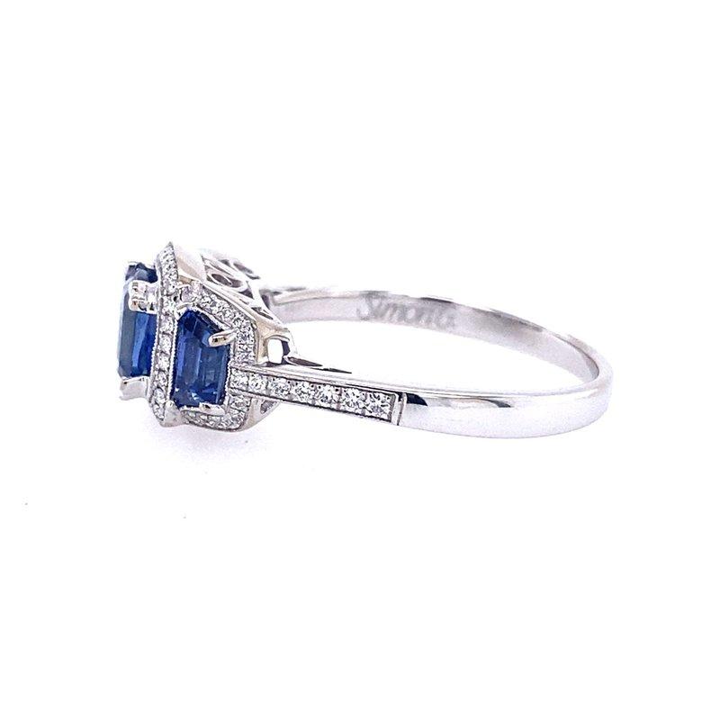 B&C Estate Collection Three Stone Sapphire Ring