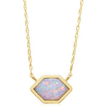 Australian Opal Hexagon Necklace