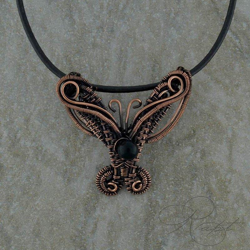 Rapt  Woven Butterfly Pendant