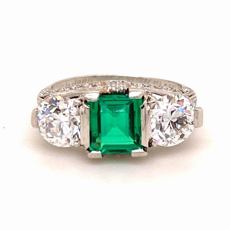 B&C Estate Collection Emerald & Diamond Ring