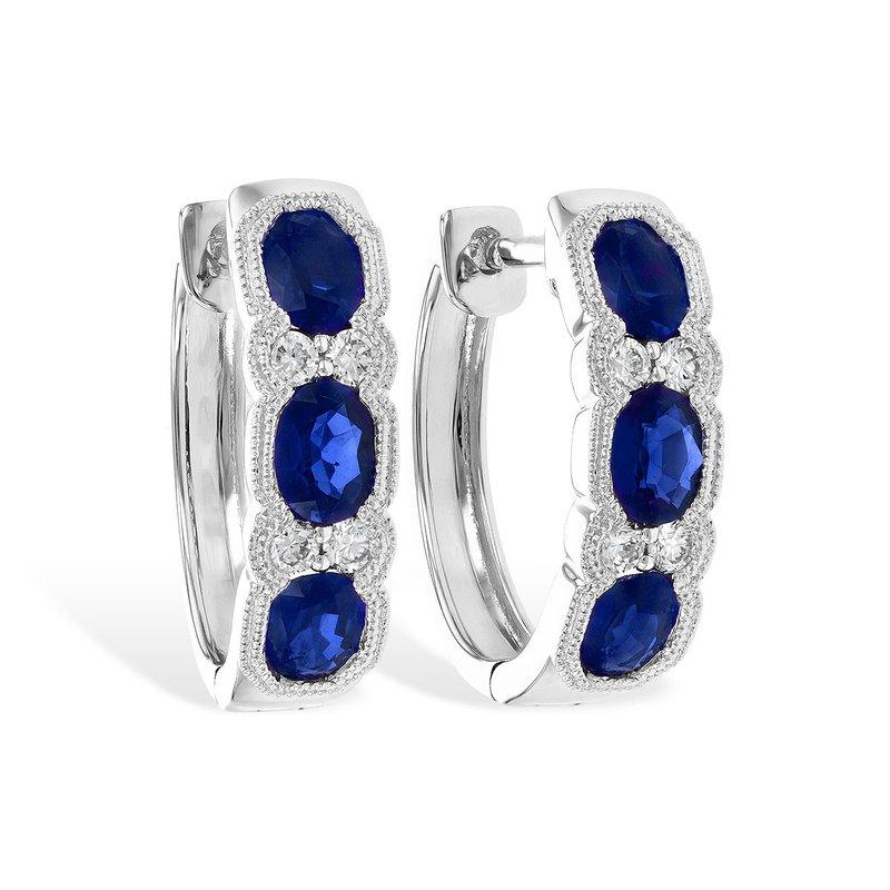 Allison Kaufman Sapphire & Diamond Hoops