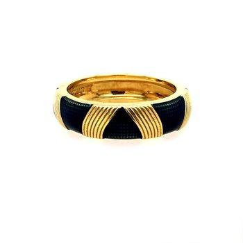 Bamboo & Enamel Ring