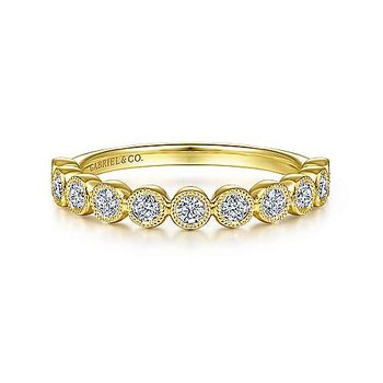 Bezel-set Stackable Diamond Band