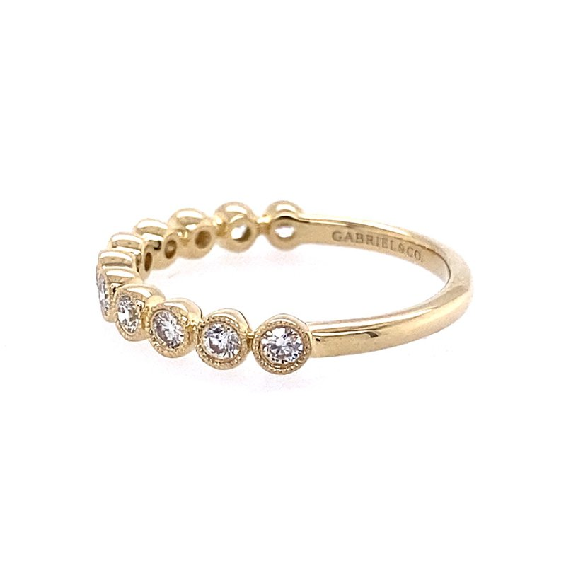 Gabriel & Co. -  IN-STORE COLLECTION Bezel-set Stackable Diamond Band