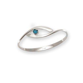 S/S Sensational Swing Blue Topaz Bracelet