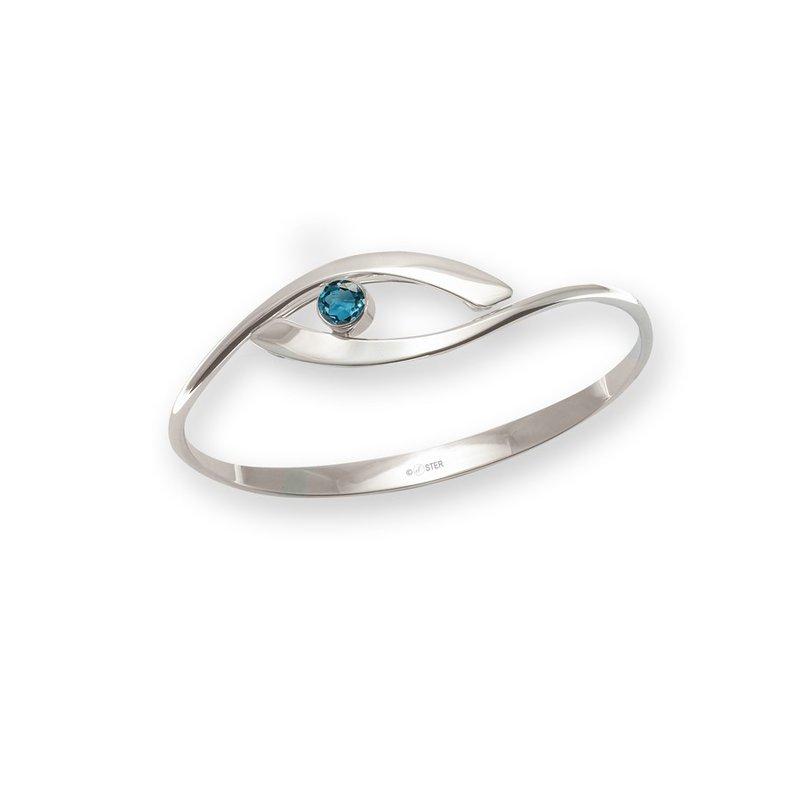 E. L. Designs IN-STORE Collection S/S Sensational Swing Blue Topaz Bracelet