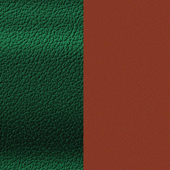 8MM Malachite  /Garnet Reversible Leather Insert