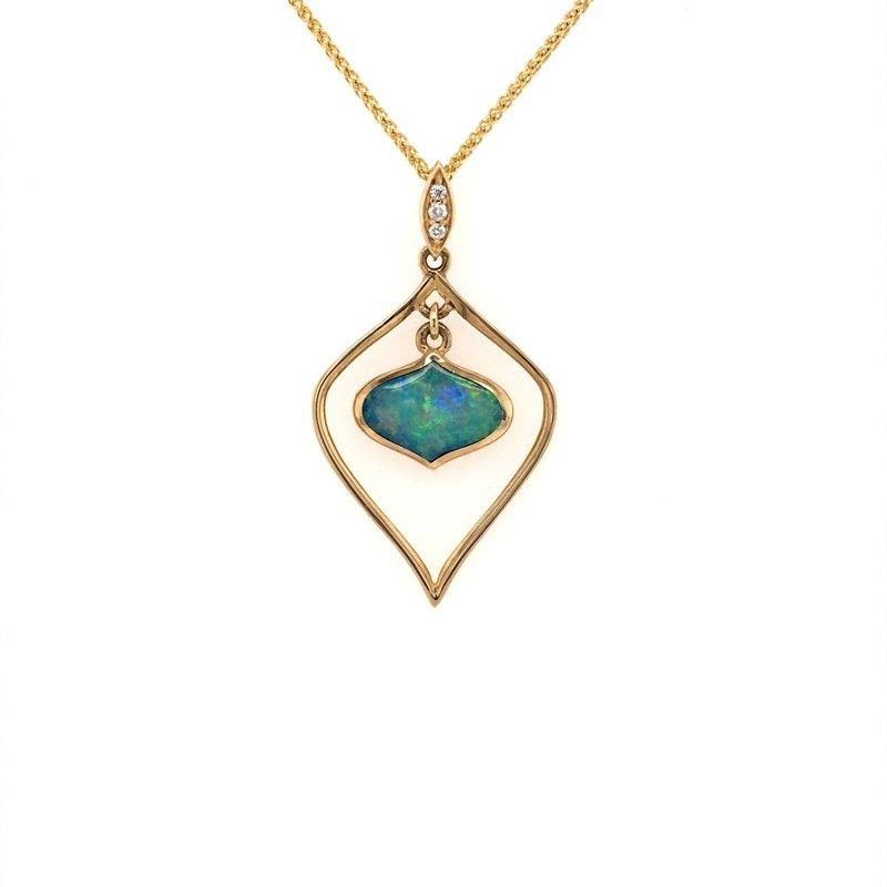 Kabana Opal Inlay Framed Pendant