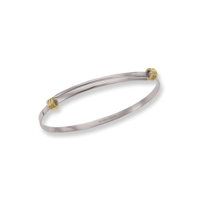 E. L. Designs IN-STORE Collection S/S and 14K Yellow Gold Petite Signature Bracelet