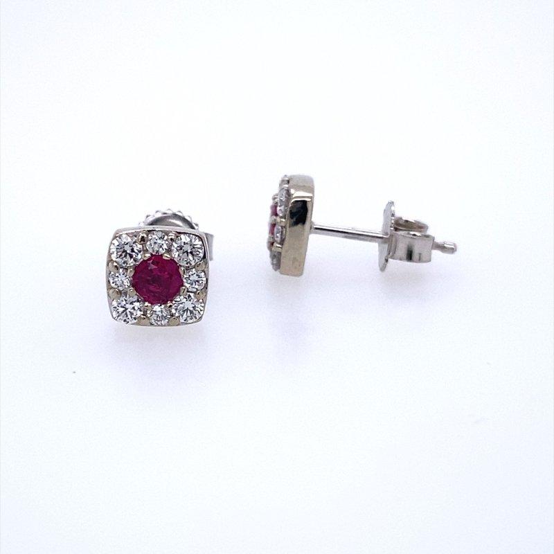 B&C Creations Ruby and Diamond Earrings