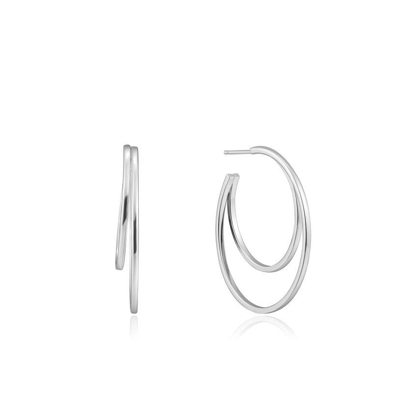 Ania Haie Silver Spiral Hoop Earrings