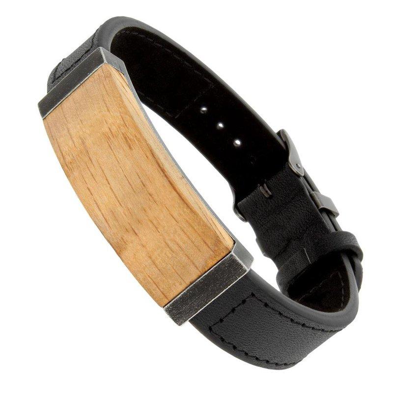 B&C Collections Bourbon Barrel Wood Bracelet