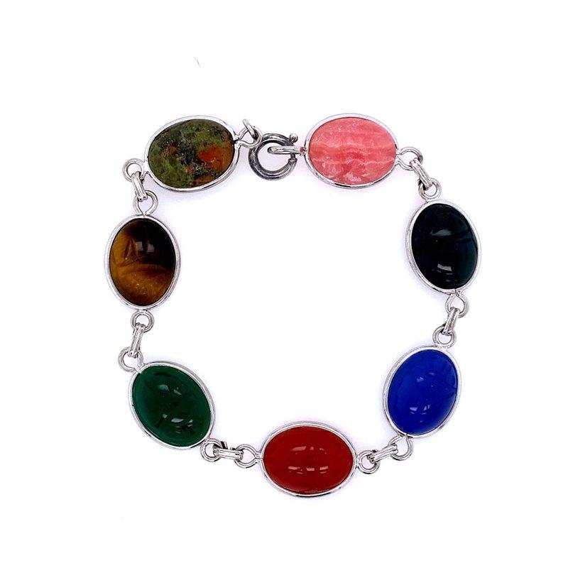 B&C Estate Collection Agate Scarab Bracelet