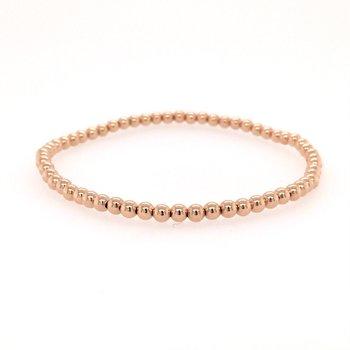 Stretch 3 MM Rose Gold Filled Bead Bracelet