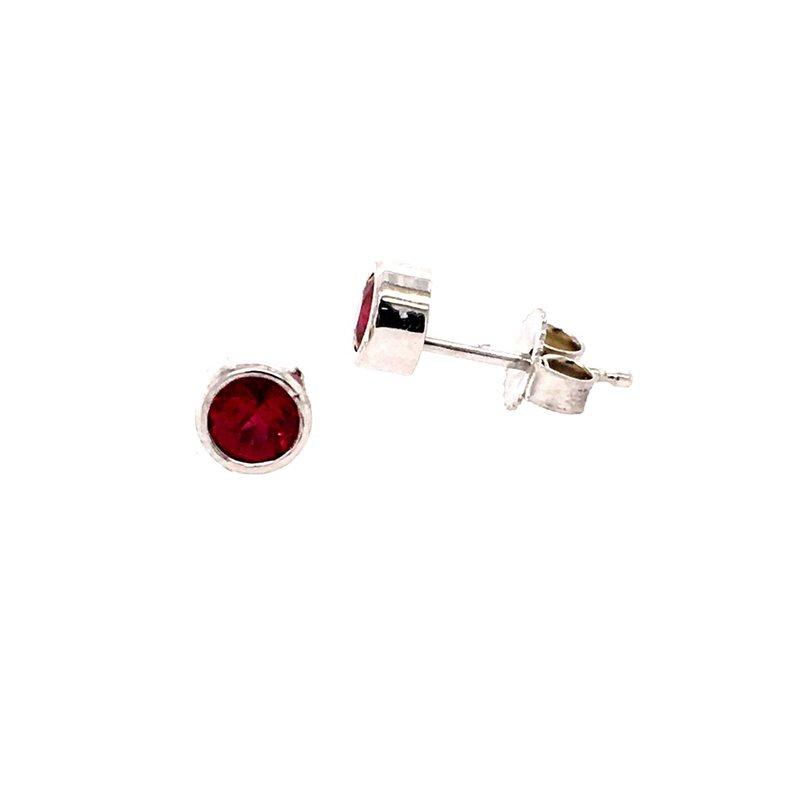 B&C Creations Ruby Stud Earrings
