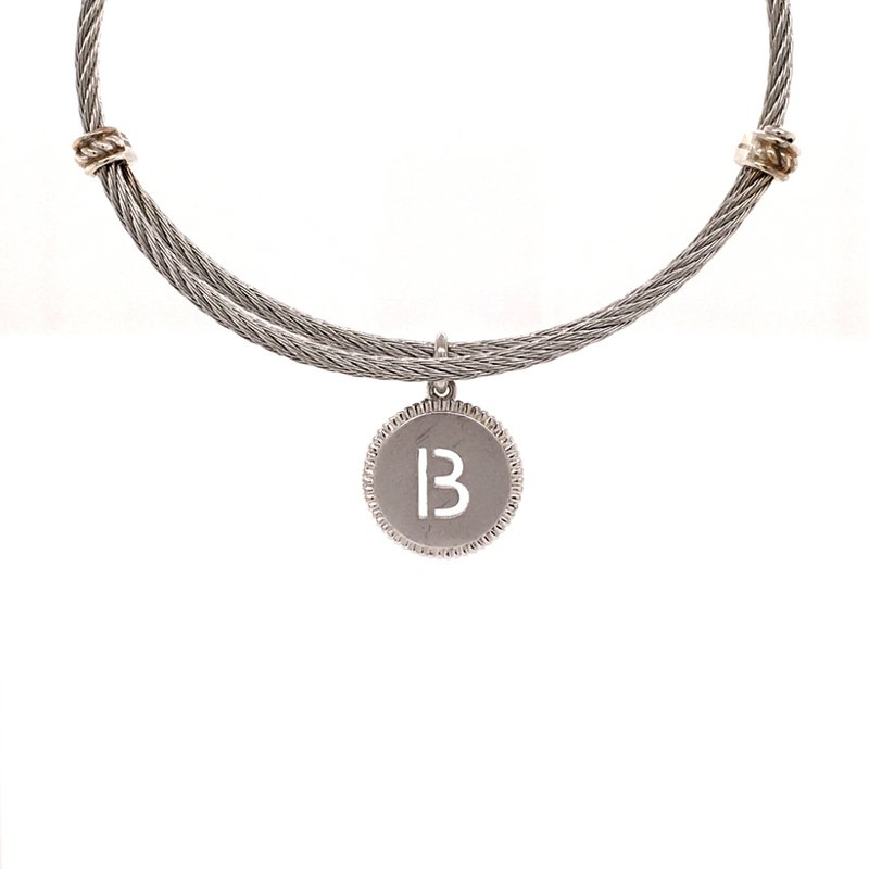 """Gabriel & Co. -  IN-STORE COLLECTION Initial """"B"""" Charm Bracelet"""