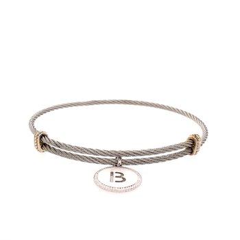 """Initial """"B"""" Charm Bracelet"""