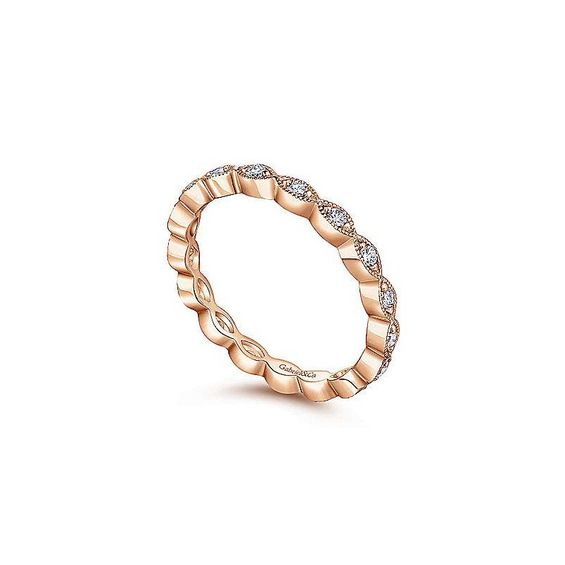Gabriel & Co. -  IN-STORE COLLECTION Marquise Station Diamond Band