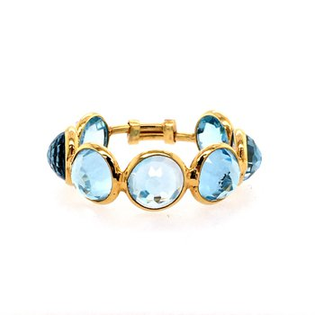 Sky Blue Topaz Adjustable Ring