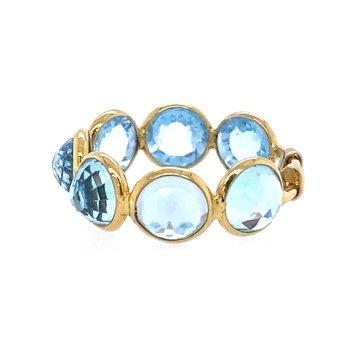 Sky Blue Topaz Adjustable Ring