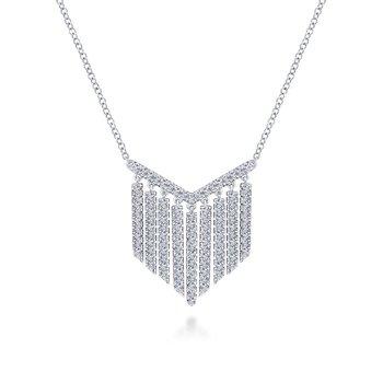 Fringe Diamond Necklace