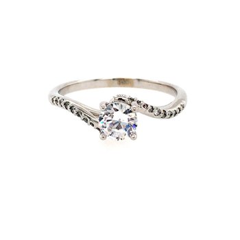 Bypass Twist Engagement Ring