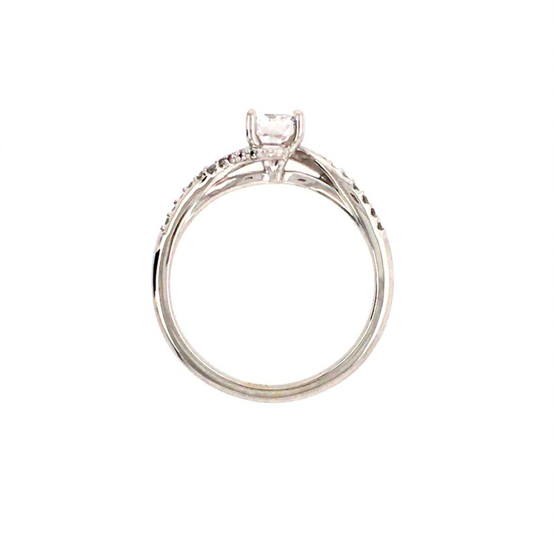 B&C Collections Bypass Twist Engagement Ring