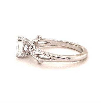 Fancy Cut Twist Engagement Ring