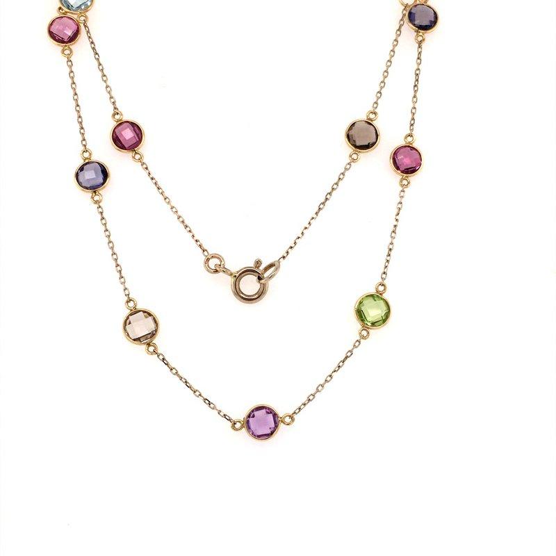 Tresor Mixed Quartz Station Necklace