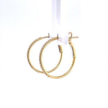 Classic Diamond Hoops
