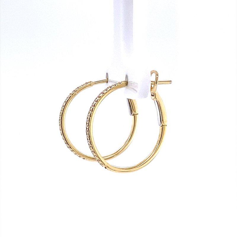 B&C Collections Classic Diamond Hoops