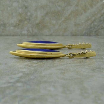 Lapis & Diamond Earrings