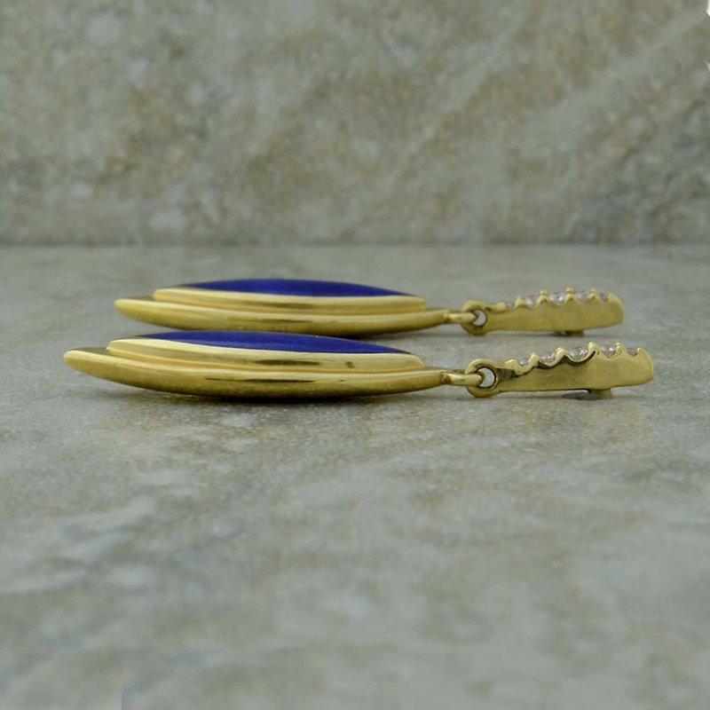 Kabana Lapis & Diamond Earrings