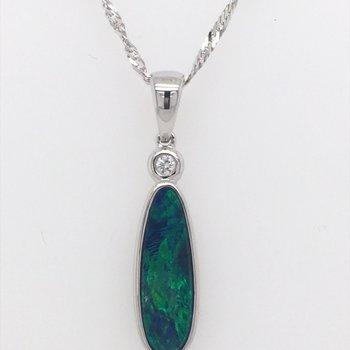 Australian Opal Doublet Pendant