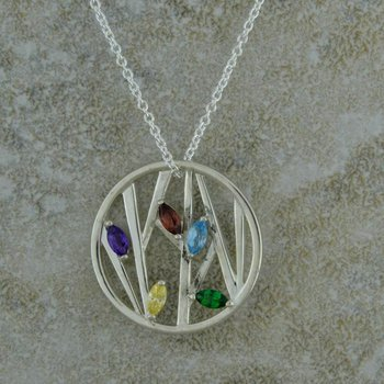 Five Stone Circle Mother's Necklace