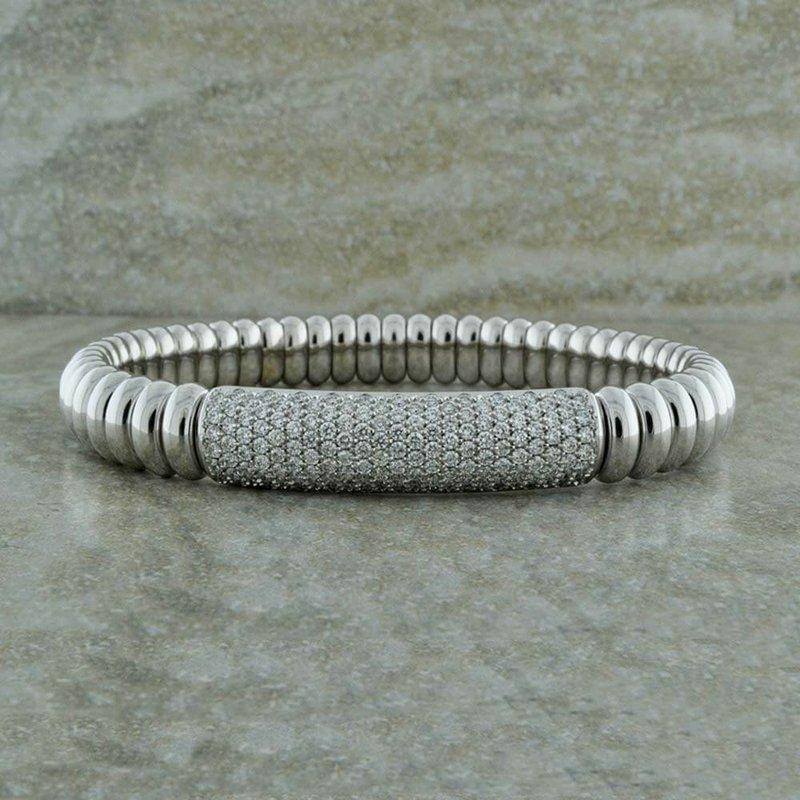 Hulchi Belluni Luxurious Diamond Stretch Bracelet