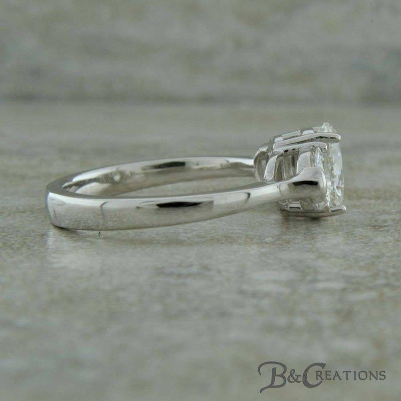 B&C Creations Oval & Half Moon Diamond Engagement Ring