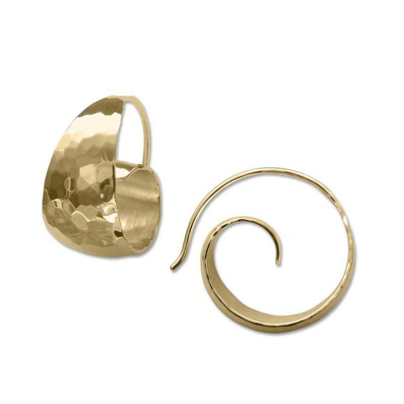 E. L. Designs Gold Ringlet Hoops
