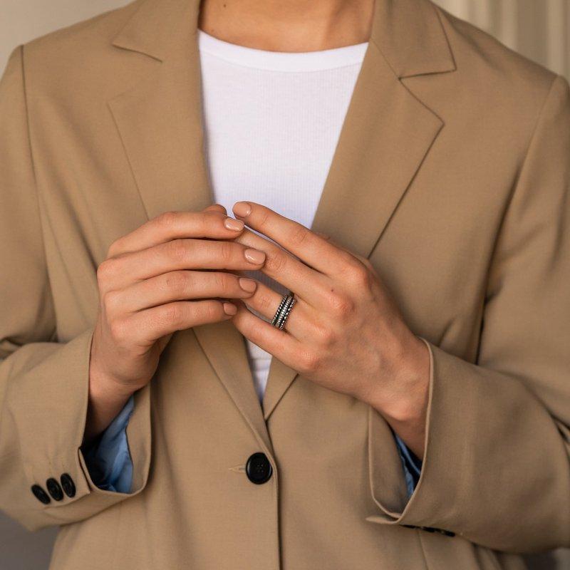 Ti Sento Three Row Textured Ring