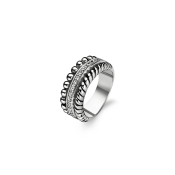 Three Row Textured Ring