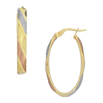 Tri Colored Ribbon Hoops