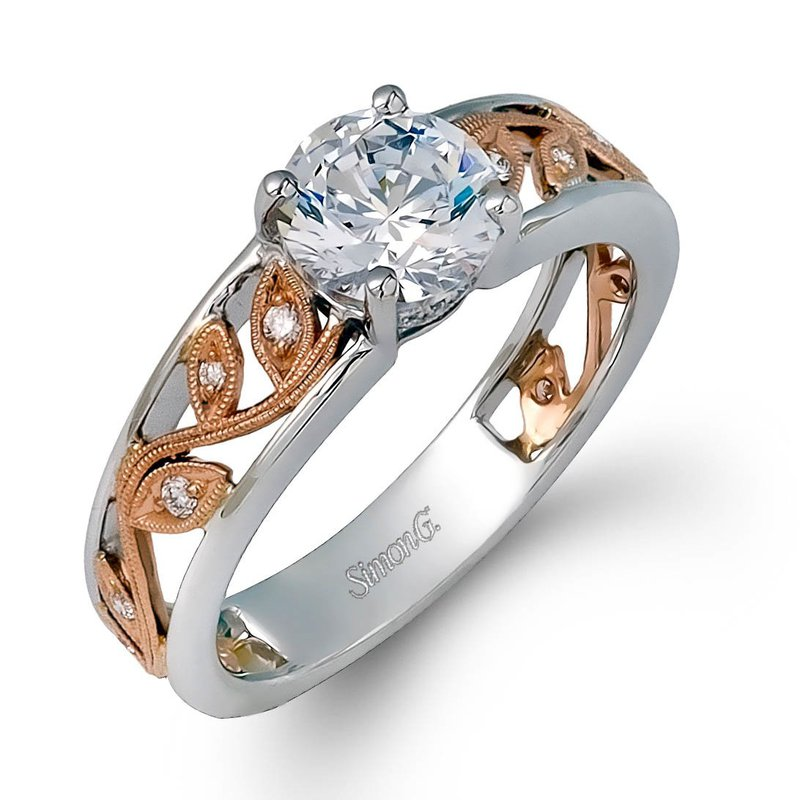 Simon G IN-STORE COLLECTION White Gold Nature Inspired Diamond Engagement Ring