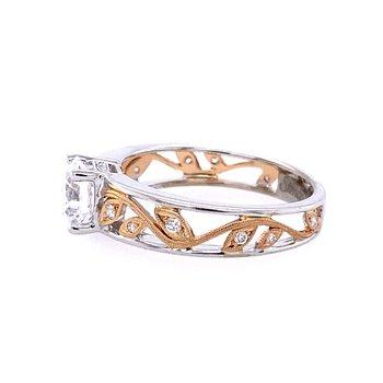White Gold Nature Inspired Diamond Engagement Ring
