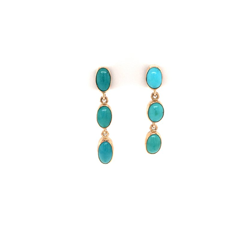 B&C Estate Collection Turquoise Dangle Earirngs