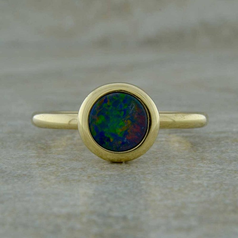Parlé 14K Yellow Gold Australian Opal Ring